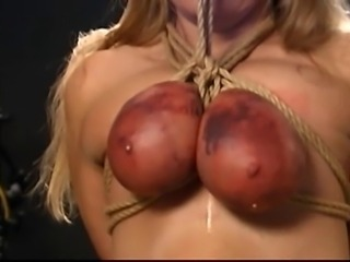 A little breast bondage