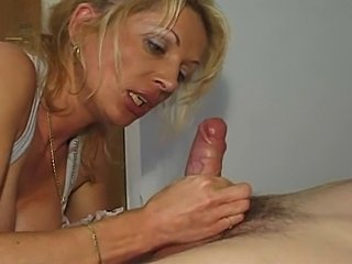 Blonde Blowjob European German Mature