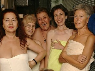 Ever take the peek inside an all lady mature sauna