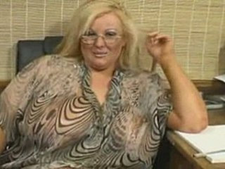 BBW Blonde Glasses MILF Office