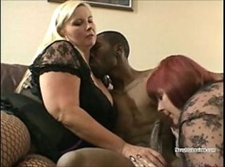 BBW Big cock Blowjob Interracial MILF Threesome