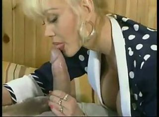 Amazing Big cock Blonde Blowjob MILF