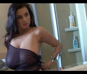 Babe Bathroom Big Tits Brunette Natural