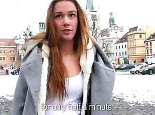 Czech gal convinced to have sex for cash