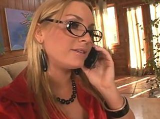 Blonde Glasses MILF Squirt