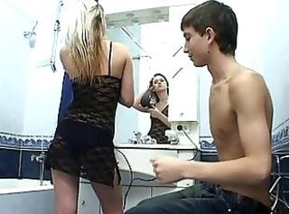 Bathroom Lingerie Sister Teen
