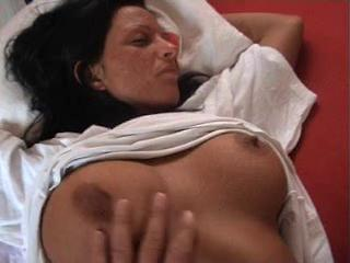 Amateur Big Tits European German MILF Nipples Sleeping
