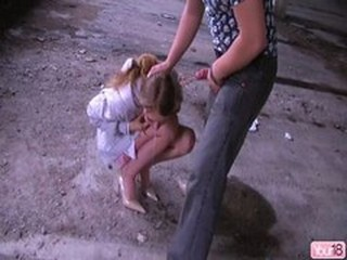 Blowjob Clothed Outdoor Swallow Teen