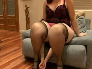 BBW Facesitting Femdom MILF Stockings