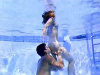 Cute girl sucks cock in the pool tubes