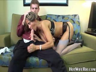 Big cock Blowjob Lingerie MILF Stockings