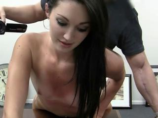 Babe Brunette Casting Small Tits
