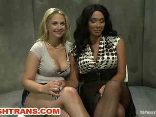 Transsexual Domina Seduces a Girl Slave