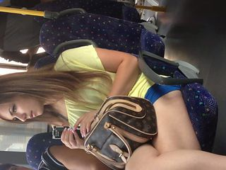Blonde Bus Cute Teen