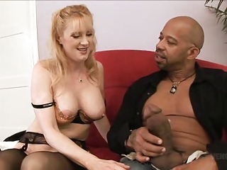 Big cock Interracial Mature MILF Stockings