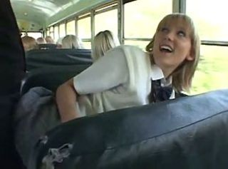 Asian Blonde Bus School