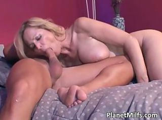 Big Tits Blonde Blowjob Mom
