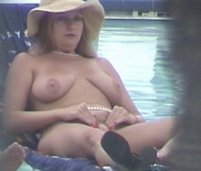 Blonde Chubby MILF Pool