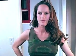 Brunette MILF Natural Spanking