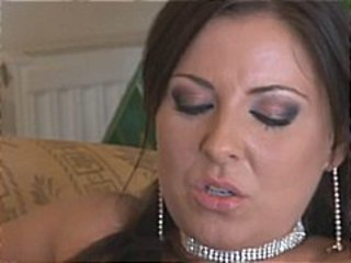 Brunette MILF beauty, Maria Belluci, has a business to run nibbling on cocks
