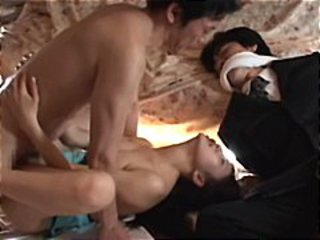 Asian Cuckold Forced Teen Threesome