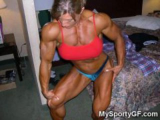 Brunette Girlfriend Muscled Sport