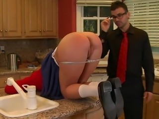 Ass Kitchen Panty Stockings Teen