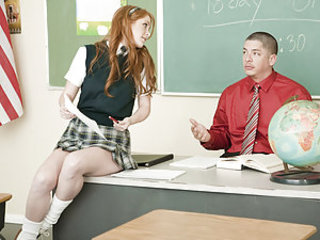 Amber Swift needs to make up a test for school, but arrives late to the session. The gracious teacher allows her to take the test, so she repays him with a little pickle tickle. The moralistic educator is quick to shed his noble skin (and clothes) and ban