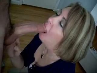 Cum on wife mouth...