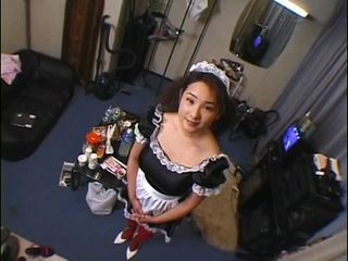 Japanese maid has to pee and ...
