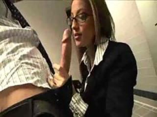 Babe Big cock Blowjob Glasses Office Secretary