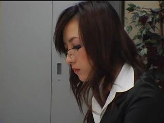 Asian Babe Cute Glasses Japanese Office Secretary