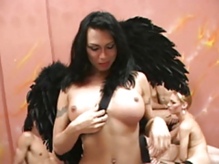 Shemale  Orgy  Fantasy Stream Movie