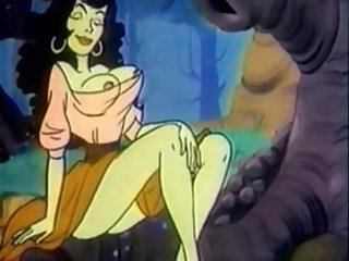Hot cartoon characters having wild hardcore sex