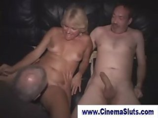 Real amateur gangbang in porn cinema