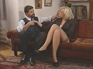 Amazing Blonde European Italian MILF Stockings