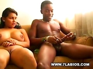 Colombian Carol with big tits doing the nasty