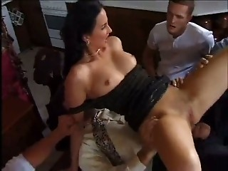 Many Cocks For A Tall Nice Brune...