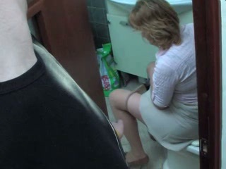 Mom in toilet