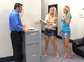 Amazing Blonde MILF Office Skirt