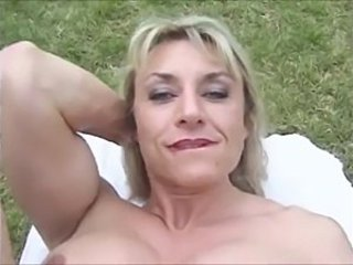 Blonde Mature Muscled Outdoor