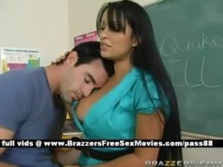 Amazing Brunette Long hair MILF School Teacher