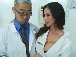 Amazing Big Tits Cute Doctor MILF Silicone Tits