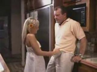 Daddy Daughter Handjob Kitchen Old and Young Teen