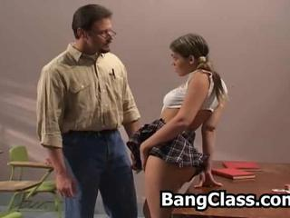 Old and Young School Skirt Teacher Teen
