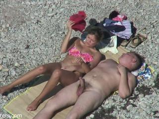 Beach MILF Nudist Outdoor Voyeur