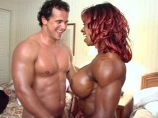 Big Tits Ebony Interracial MILF Muscled
