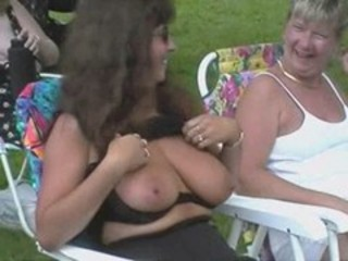 Mature Outdoor Public SaggyTits