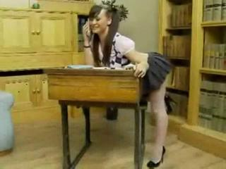 Amazing British European Pigtail Skirt Student Teen