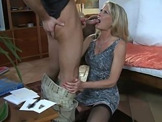Blowjob Mature MILF Old and Young Stockings